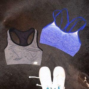 (2) sports bras